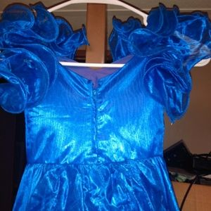 Other - Blue ruffle sleeved dress